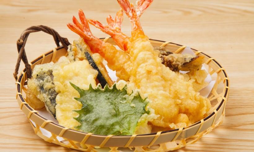 Tempurá de Frutos do Mar com Legumes