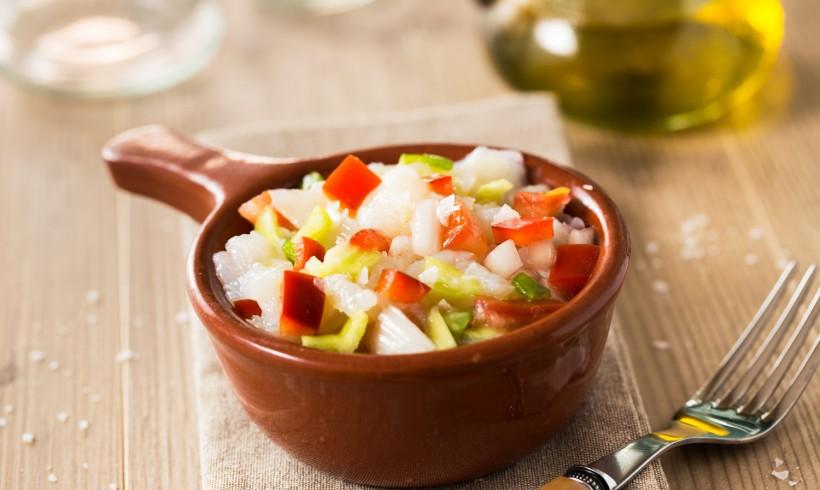 Salada de Bacalhau com Tomate e Pimentão