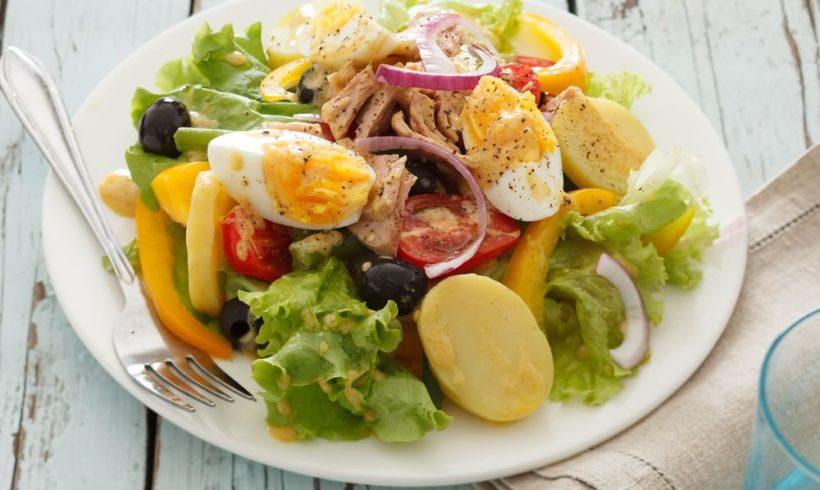 Salada Niçoise com Atum