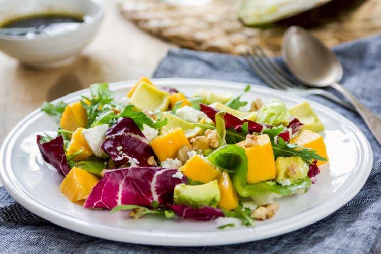 Salada Especial com Vinagrete Picante de Laranja