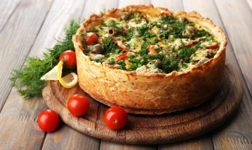Torta de Legumes com Brócolis